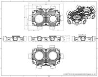 Uniflex Plus Haubtverteilbox 6x Ø 90 mm mit Tülle Ø 160 mm-2