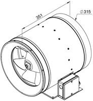 Ruck Etaline E Rohrventilator 3510m³/h - Ø 315 mm - EL 315 E2 01-2