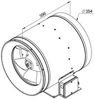 Ruck Etaline E Rohrventilator 2580m³/h - Ø 355 mm - EL 355 E4 01-2