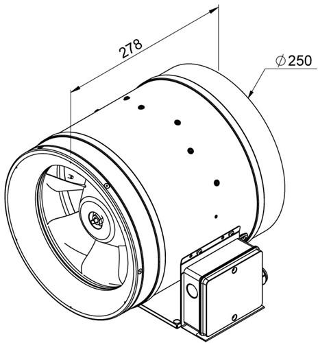 Ruck Etaline E Rohrventilator 1740m³/h - Ø 250 mm - EL 250 E2 01-2