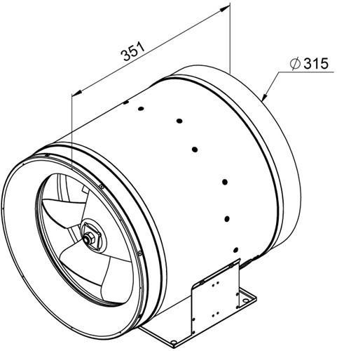 Ruck Etaline D Rohrventilator 4210m³/h - Ø 315 mm - EL 315 D2 01-2