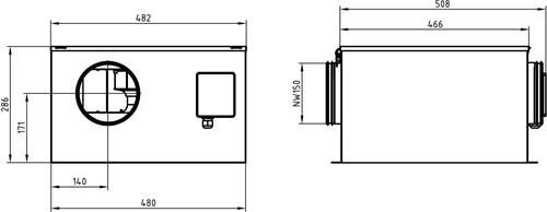 Ruck isolierter Abluftbox 605m³/h - Ø 150 mm - ISOR 150 E2 11-2
