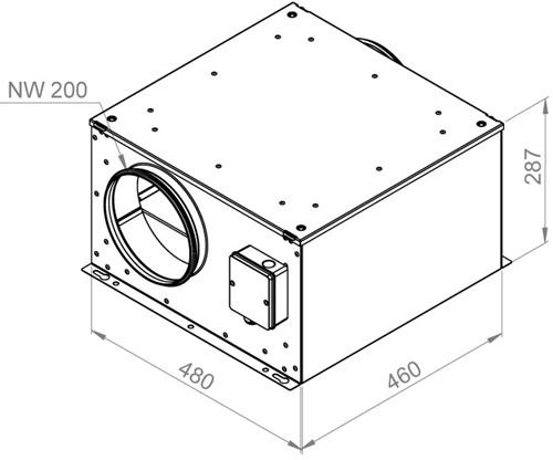 Ruck isolierter Abluftbox 730m³/h - Ø 200 mm - ISOR 200 E2 11-2