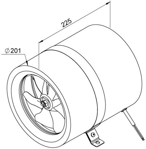 Ruck Etaline E Rohrventilator 920m³/h - Ø 200 mm - EL 200 E2 01-2