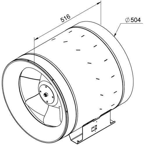 Ruck Etaline D Rohrventilator 9850m³/h - Ø 500 mm - EL 500 D4 01-2