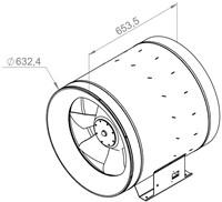 Ruck Etaline D Rohrventilator 15890m³/h - Ø 630 mm - EL 630 D4 01-2