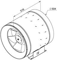 Ruck Etaline E Rohrventilator 6950m³/h - Ø 500 mm - EL 500 E4 01-2