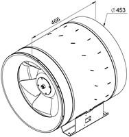 Ruck Etaline D Rohrventilator 7350m³/h - Ø 450 mm - EL 450 D4 01-2