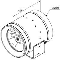 Ruck Etaline D Rohrventilator 2390m³/h - Ø 250 mm - EL 250 D2 01-2