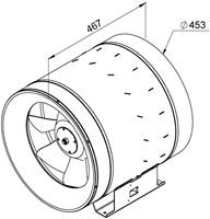 Ruck Etaline E Rohrventilator 5210m³/h - Ø 450 mm - EL 450 E4 01-2