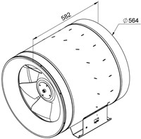 Ruck Etaline D Rohrventilator 10380m³/h - Ø 560 mm - EL 560 D4 01-2