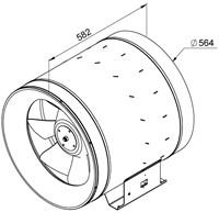 Ruck Etaline E Rohrventilator 9550m³/h - Ø 560 mm - EL 560 E4 01-2