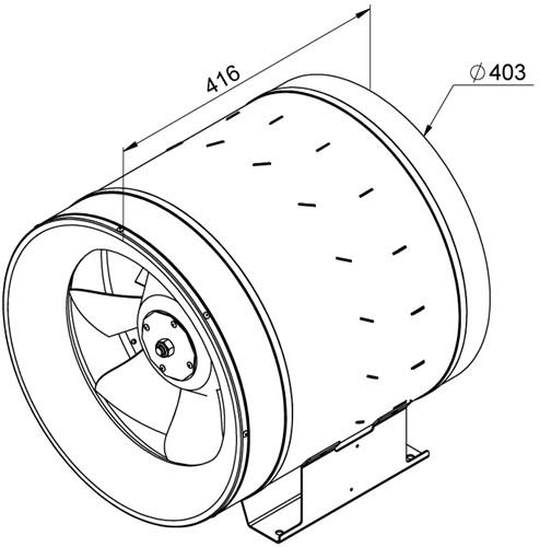 Ruck Etaline D Rohrventilator 5160m³/h - Ø 400 mm - EL 400 D4 01-2