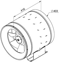 Ruck Etaline E Rohrventilator 3440m³/h - Ø 400 mm - EL 400 E4 01-2