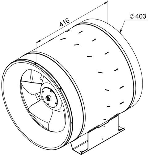 Ruck Etaline D Rohrventilator 6910m³/h - Ø 400 mm - EL 400 D2 01-2