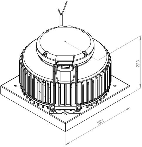 Ruck Dachventilator Kunststoff mit Geräteschalter - 900m³/h - DHA 220 E2P 01-2