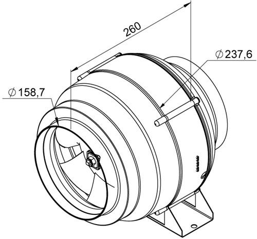 Ruck Etaline Rohrventilator mit EC Motor 990m³/h - Ø 160 mm - EL 160L EC 01-2