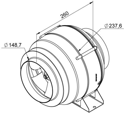 Ruck Etaline Rohrventilator mit EC Motor 940m³/h - Ø 150 mm - EL 150L EC 01-2