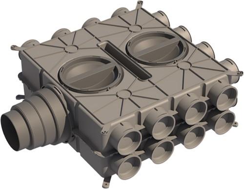 Ubbink-Universal-Luftverteilerdose DBOX - 24 Anschlüsse