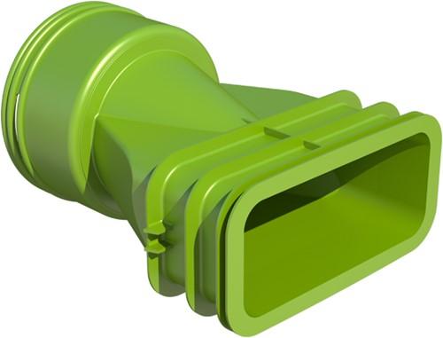 Ubbink-Ventiladapter rund 90 mm auf 1 x flach oval 60x132