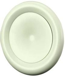 Zuluft Tellerventil Metall Ø 125 Weiß mit Montagering - DVS-P125
