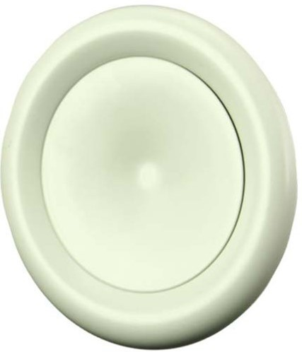 Tellerventil Metall Ø 125 mm Weiß mit Federklammern (DVSC-P125)