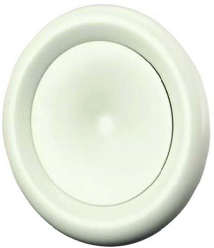 Zuluft Tellerventil Metall Ø 100 Weiß mit Montagering - DVS-P100