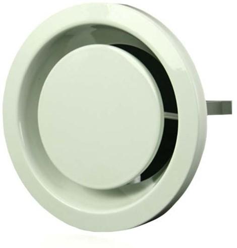Entlüftungsventile Metall 100 mm weiß mit Klemmfedern - DVSER 100