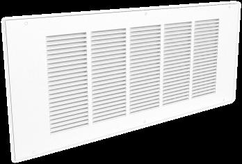 Wandgitter 500x300 Stahl mit Schraubbefestigung und gestanzten Lamellen