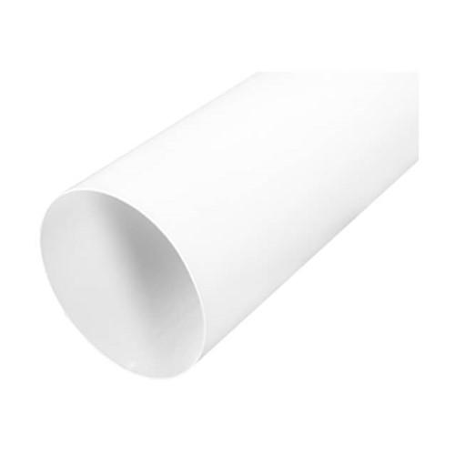 Rohr weiß Durchmesser 125 mm - Länge 1 Meter RAL 9010