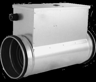 Elektrisches Rundkanal heizregister - Ø100 - 0,6 kW