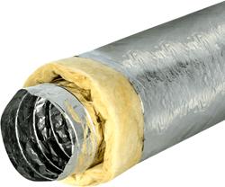 Isodec Lüftungsschlauch 102mm thermisch isoliert (10 Meter)