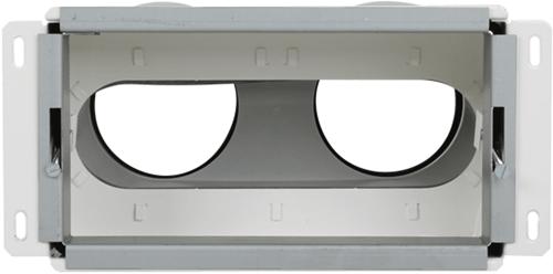 Uniflexplus Wandkollektor Hinterer Anschluss 2x Ø 90 mm
