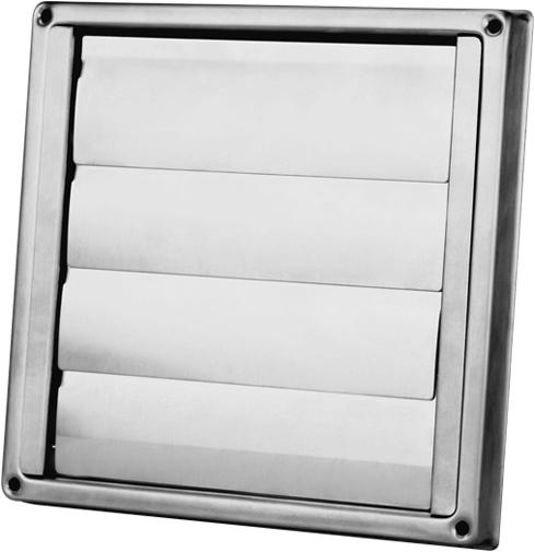 edelstahl fassadengitter 125 mm mit beweglichen lamellen. Black Bedroom Furniture Sets. Home Design Ideas