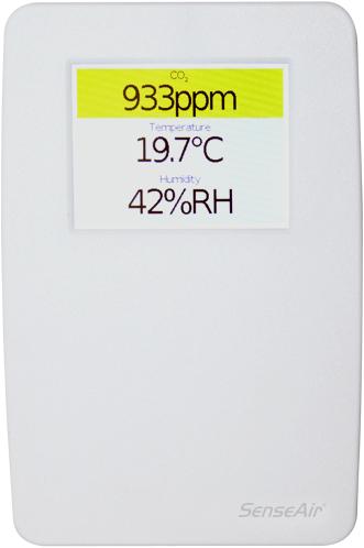 Sensair tSense CO2-Messgerät - Temperatur und Luftfeuchtigkeit - 0-10V Ausganssignal