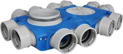 Uniflexplus Subverteilerbox 12x Ø 90 mm mit Tülle  Durchmesser 160