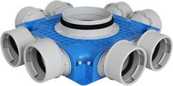 Uniflexplus Subverteilerbox 8x Ø 90 mm mit Tülle  Durchmesser 180