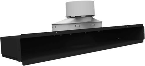 Uniflexplus Spaltkollektor für Decken- oder Wandmontage ohne Gitter 1x Ø 90 mm