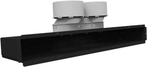 Uniflexplus Spaltkollektor für Decken- oder Wandmontage ohne Gitter 2x Ø 90 mm
