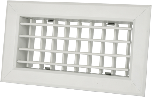 Uniflexplus Gitter mit einstellbaren Lamellen 200x100 für Wandkollektor