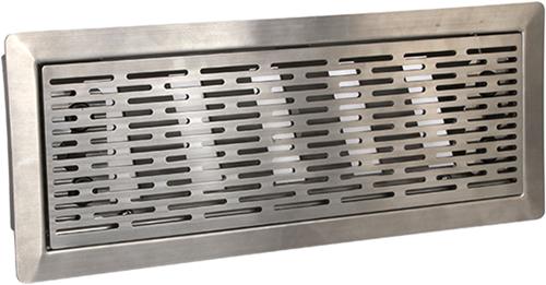 Uniflex Plus bewegliches Bodenspaltgitter Edelstahl poliert