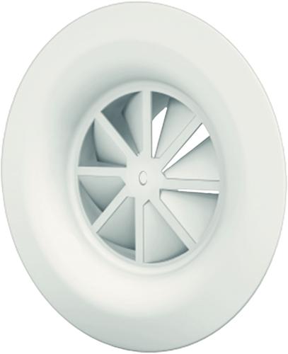 Dralldurchlass mit Diffusorring mit zentrale Schraubbefestigung 250 mm mit Seitenanschluss nicht isolierter Anschlusskasten 200 mm - Mischfarbe RAL 9016