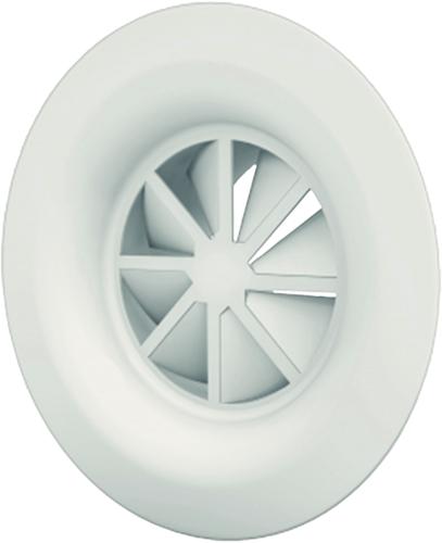 Dralldurchlass mit Diffusorring 160 mm mit Seitenanschluss nicht isolierter Anschlusskasten 125 mm - Mischfarbe RAL 9010