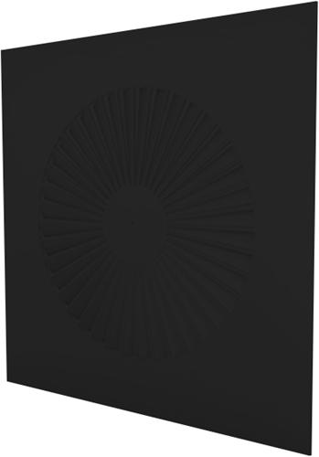 Dralldurchlass quadratisch 600x600 feste Lamellen 500 mm - Mischfarbe RAL 9005