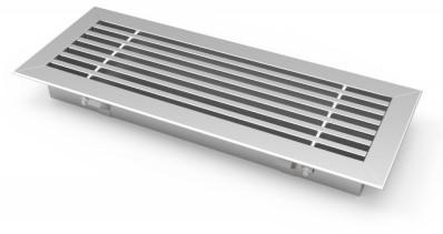Stabgitter für Bodenmontage mit Klemmfedern 800x200mm