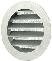 Wetterschutzgitter Aluminium Wand Ø100mm