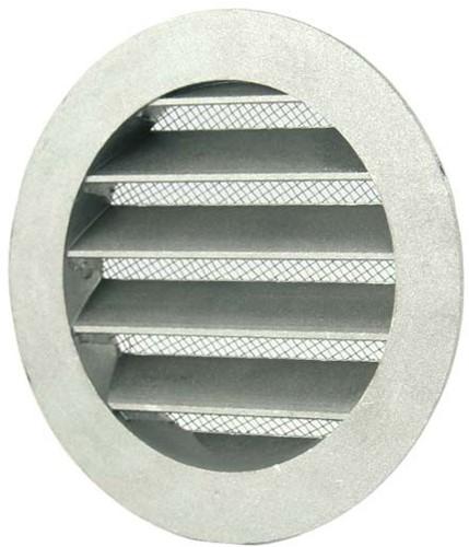 Wetterschutzgitter Aluminium Wand Ø125mm