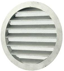 Wetterschutzgitter Aluminium Wand Ø160mm