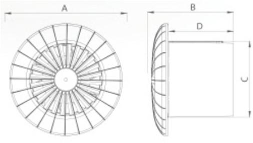 Badlüfter Ø120mm Mit Feuchtigkeitssensor Und Timer Weiß