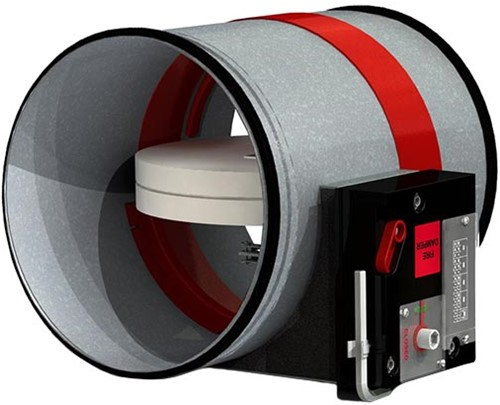 Brandschutzklappe handbedient Ø355mm CR2+CFTH